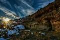 طلوع خورشید بر فراز غارهای دستکند روستای حماملو ورزقان