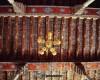 معماری زیبای سقف و ستون های چوبی مسجد جامع(شیرلو) عجبشیر